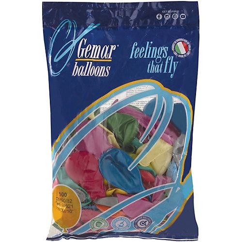 Воздушные шары Веселая затея, 100 шт, металлик - разноцветный от Веселая Затея