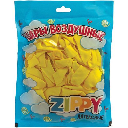 Воздушные шары Zippy, 50 шт, неоновые, желтые - желтый от Zippy