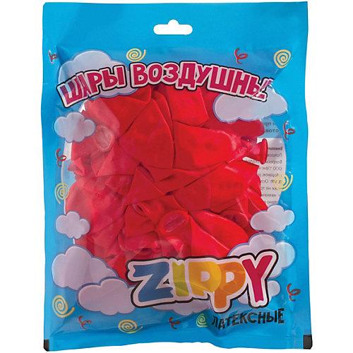 Воздушные шары Zippy, 50 шт, неоновые, красные - красный от Zippy