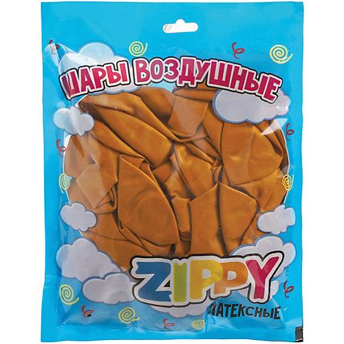Воздушные шары Zippy, 50 шт, золотой металлик - золотой от Zippy