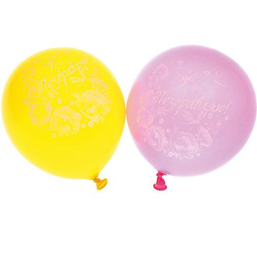 """Воздушные шары  Belbal с рисунком  """"Поздравляем с днем рождения! Маки""""  50 шт от Belbal"""