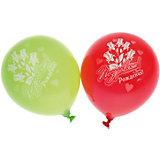 """Воздушные шары Belbal с рисунком """"Поздравляем с днем рождения! Розы"""" 50 шт"""