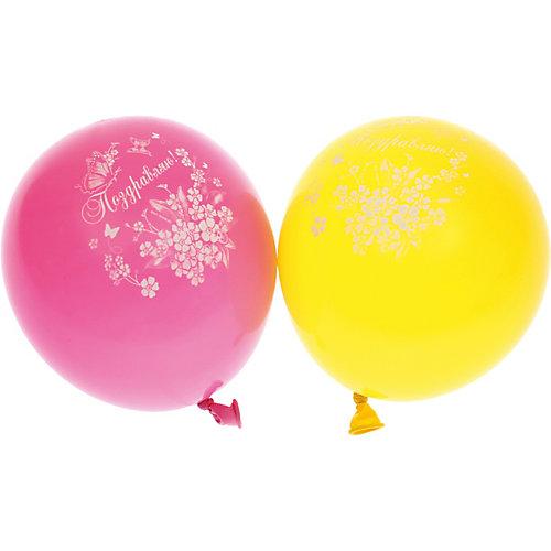 """Воздушные шары Belbal с рисунком  """"Поздравляем с днем рождения! Бабочки""""  50 шт от Belbal"""