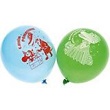 """Воздушные шары Belbal с рисунком   """"День рождения, Чебурашка"""" 50 шт"""