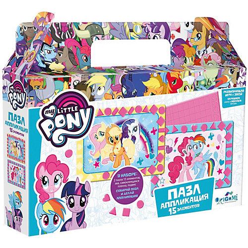 Пазл 2в1 My little Pony Лучшие друзья, 15 элементов, с аппликацией от Origami