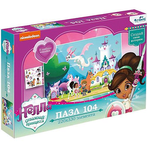 Пазл Нелла Замок принцессы, 104 элемента, с наклейками от Origami