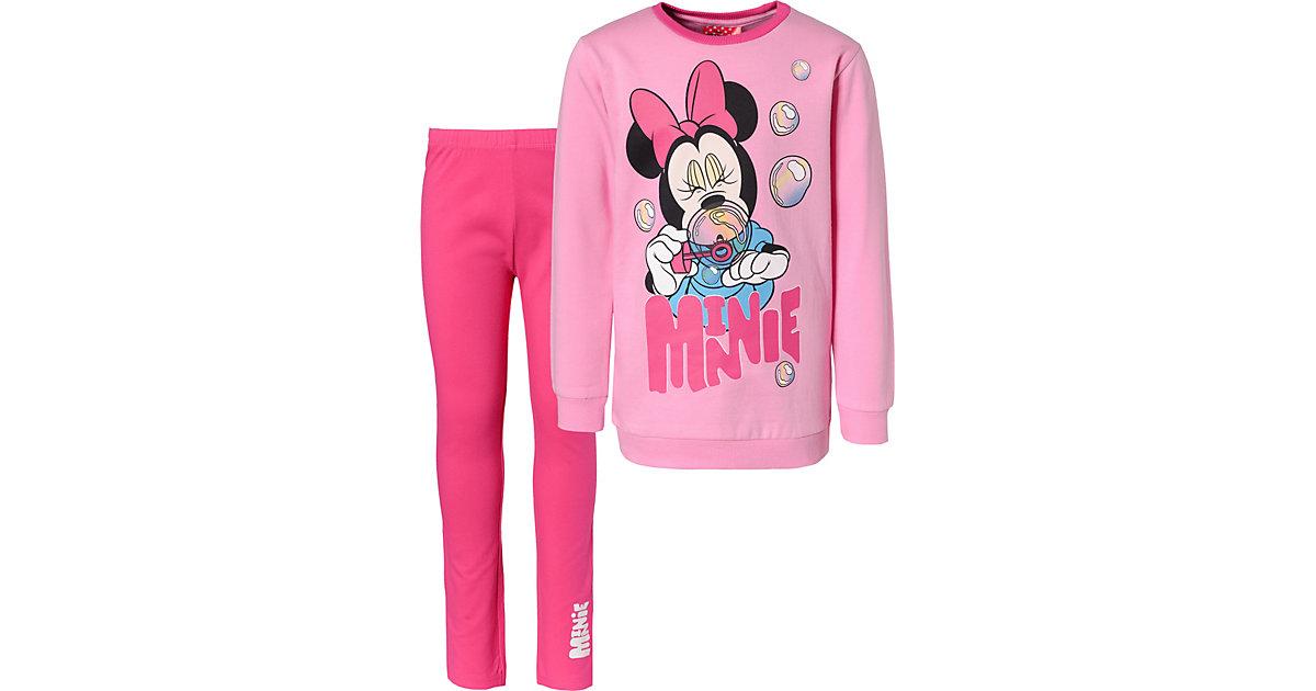 Disney · Disney Minnie Mouse Set aus Sweatshirt + Leggings fuchsia Gr. 110 Mädchen Kleinkinder