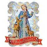 """Новогоднее украшение Fenix-present """"Снегурочка и оленята"""""""