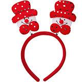 """Ободок Fenix-present """"Снеговик в красной шляпе"""""""