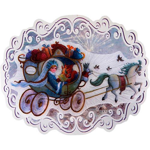 """Новогоднее украшение Fenix-present """"Новогодняя колесница"""", с подсветкой от Феникс-Презент"""