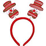"Ободок Fenix-present ""Снеговик в красно-зеленой шляпе"""