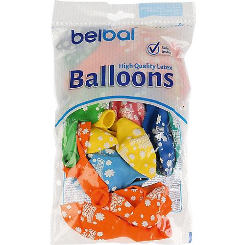 """Воздушные шары Belbal """"Добро пожаловать"""", пастель, шелкография, 25 шт от Belbal"""