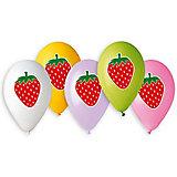 """Воздушные шары Belbal """"Клубника"""", с рисунком, 50 шт"""