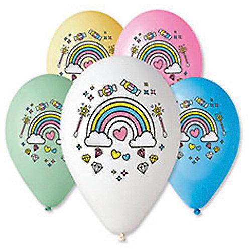 """Воздушные шары Belbal """"Единонорог. Радуга"""", с рисунком, 50 шт от Belbal"""