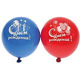 """Воздушные шары Belbal """"День рождения: Мишка с тортом"""", с рисунком, 50 шт"""