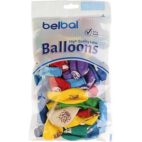 """Воздушные шары Belbal """"Зверюшки"""", с рисунком, 50 шт от Belbal"""