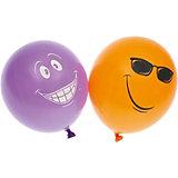 """Воздушные шары Belbal """"Улыбка"""", с рисунком, 50 шт"""