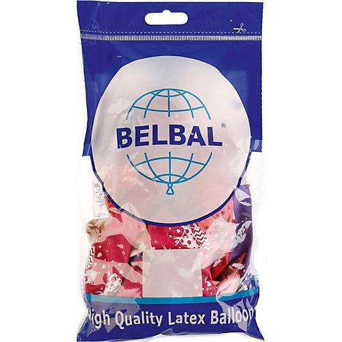 """Воздушные шары Belbal """"Сердца на прищепке"""", пастель, шелкография, 25 шт от Belbal"""