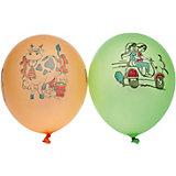 """Воздушные шары Gemar """"Неон ассорти"""", с рисунком, 100 шт"""
