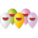 """Воздушные шары Belbal """"Арбуз"""", с рисунком, 50 шт"""