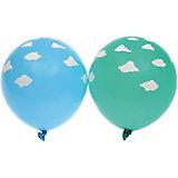 """Воздушные шары Belbal """"Облака"""", пастель, шелкография, 25 шт"""