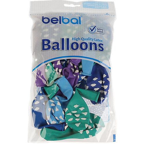 """Воздушные шары Belbal """"Облака"""", пастель, шелкография, 25 шт от Belbal"""