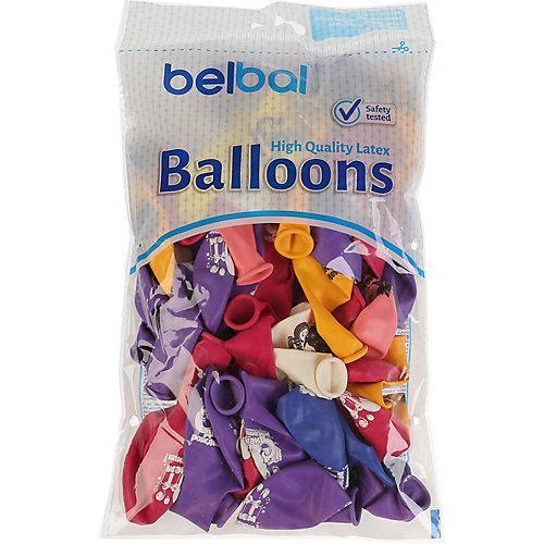 """Воздушные шары Belbal """"День рождения: котенок с подарком"""", с рисунком, 50 шт от Belbal"""