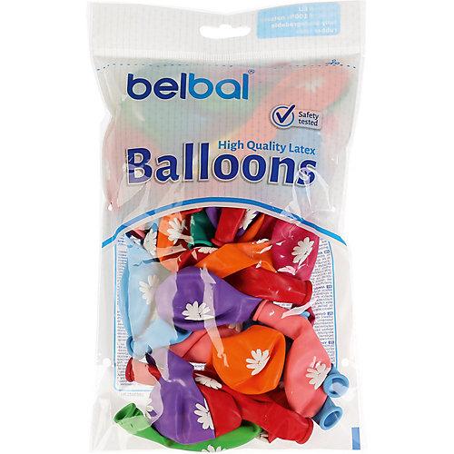 """Воздушные шары Belbal """"Ромашки"""", с рисунком, 50 шт от Belbal"""