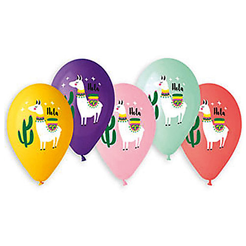 """Воздушные шары Belbal """"Лама hola"""", с рисунком, 50 шт от Belbal"""