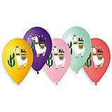 """Воздушные шары Belbal """"Лама hola"""", с рисунком, 50 шт"""
