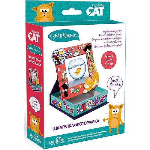 "Скрапбукинг Origami Cat ""Шкатулка-фоторамка"" от Origami"