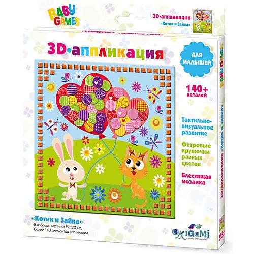 """3D-аппликация Origami """"Котик и Зайка"""" от Origami"""