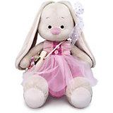 Мягкая игрушка Budi Basa Зайка Ми с сумочкой и цветком, 34 см