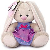 Мягкая игрушка Budi Basa Зайка Ми в платье с единорогом на ушке, 15 см