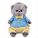 Мягкая игрушка Budi Basa Кот Басик Baby в рубашке и шортиках, 20см