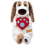 Мягкая игрушка Budi Basa Собака Бартоломей с сердцем, 27 см