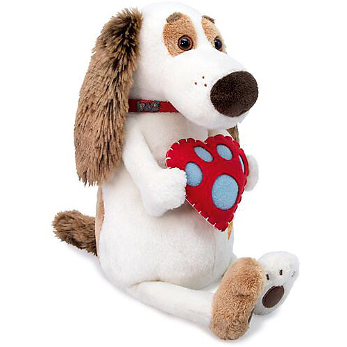 Мягкая игрушка Budi Basa Собака Бартоломей с сердцем, 27 см от Budi Basa