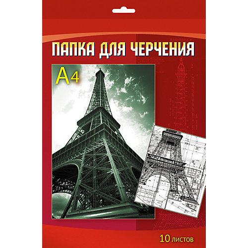 """Папка для черчения Апплика """"Эйфелева башня"""" 10 листов А4 от АппликА"""