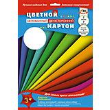 """Цветной мелованный картон Апплика """"Цветные полосы"""" 7 листов А4"""