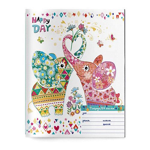 Тетрадь Альт Счастливый день, 24 листа, клетка, 10 шт от Альт