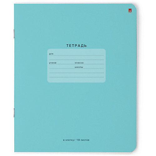 Тетрадь Альт One color-голубой, 18 листов, клетка, 10 шт от Альт