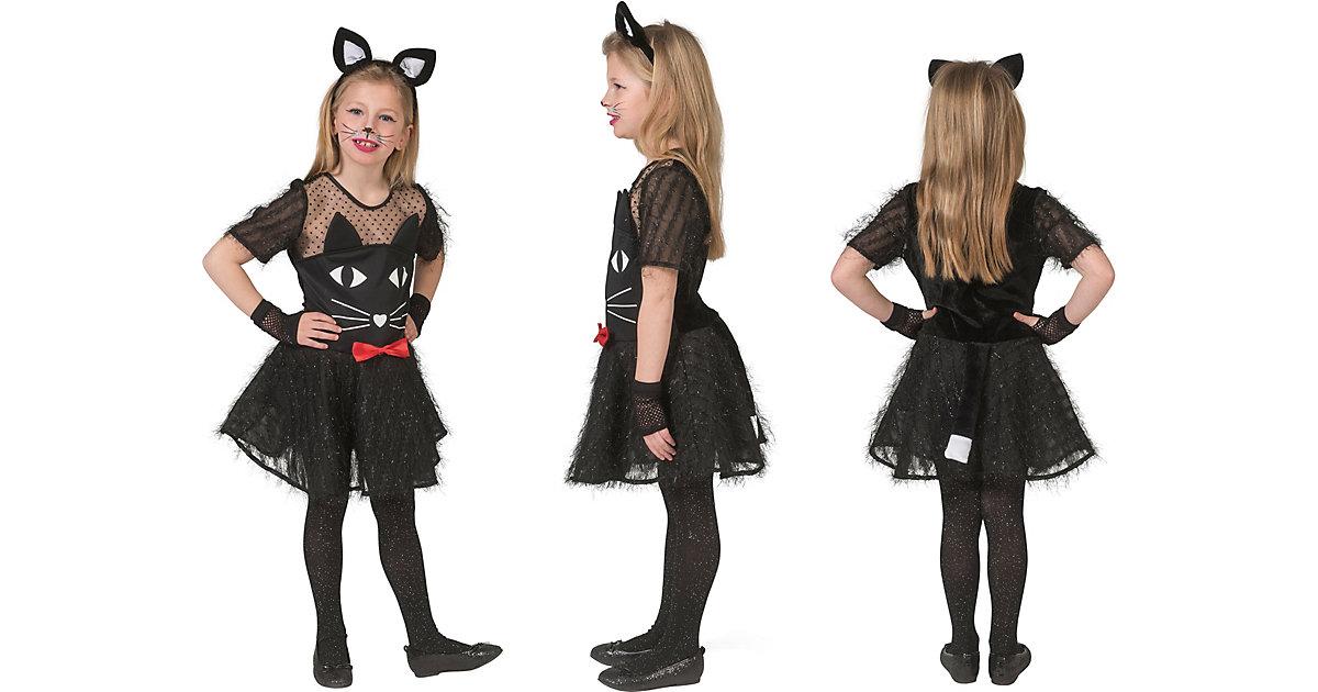 Kostüm Schwarze Katze schwarz Gr. 140 Mädchen Kinder