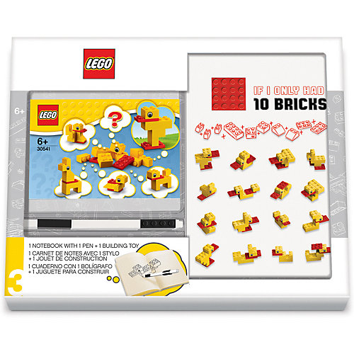 Записная книжка LEGO Classic Duck Build, с ручкой и мини-фигурой, 192 листа от LEGO