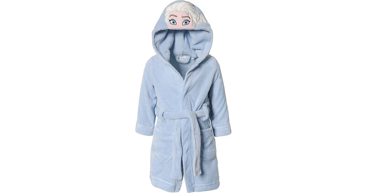 Disney Die Eiskönigin Bademantel NMFFROZEN  blau Gr. 92 Mädchen Kleinkinder