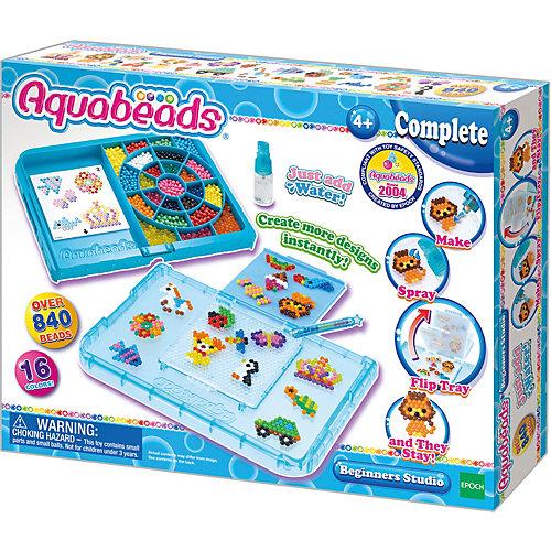 """Игровой набор Aquabeads """"Студия новичка с формой-перевертышем"""", 840 бусин (аквамозаика) от Эпоха Чудес"""