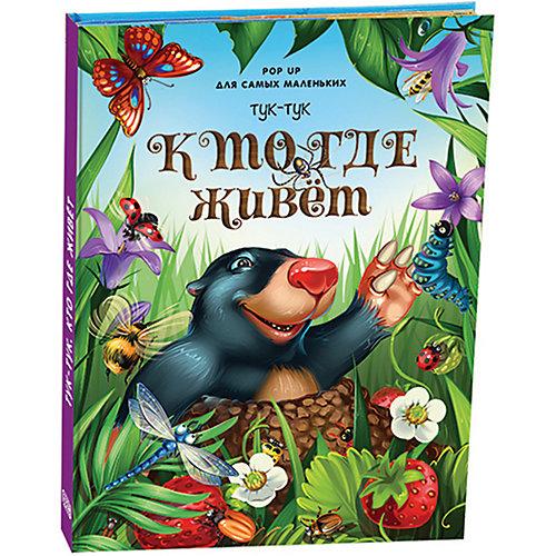 """Книжка-паномарка для самых маленьких Pop up """"Тук-тук. Кто где живет"""" от Malamalama"""
