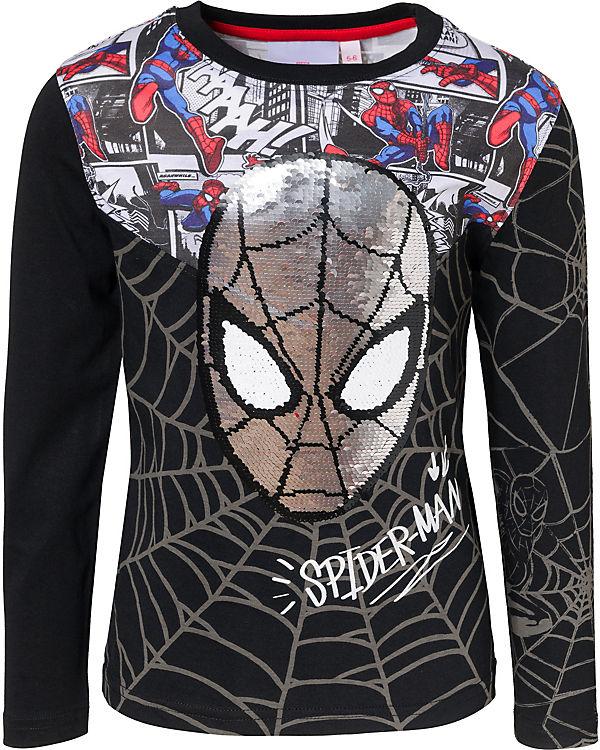 Super Specials beste Wahl beste Sammlung Spider-Man Langarmshirt mit Wendepailletten für Jungen, Spider-Man