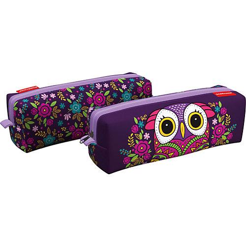 Пенал квадро Erich Krause Flower Owl - фиолетовый от Erich Krause