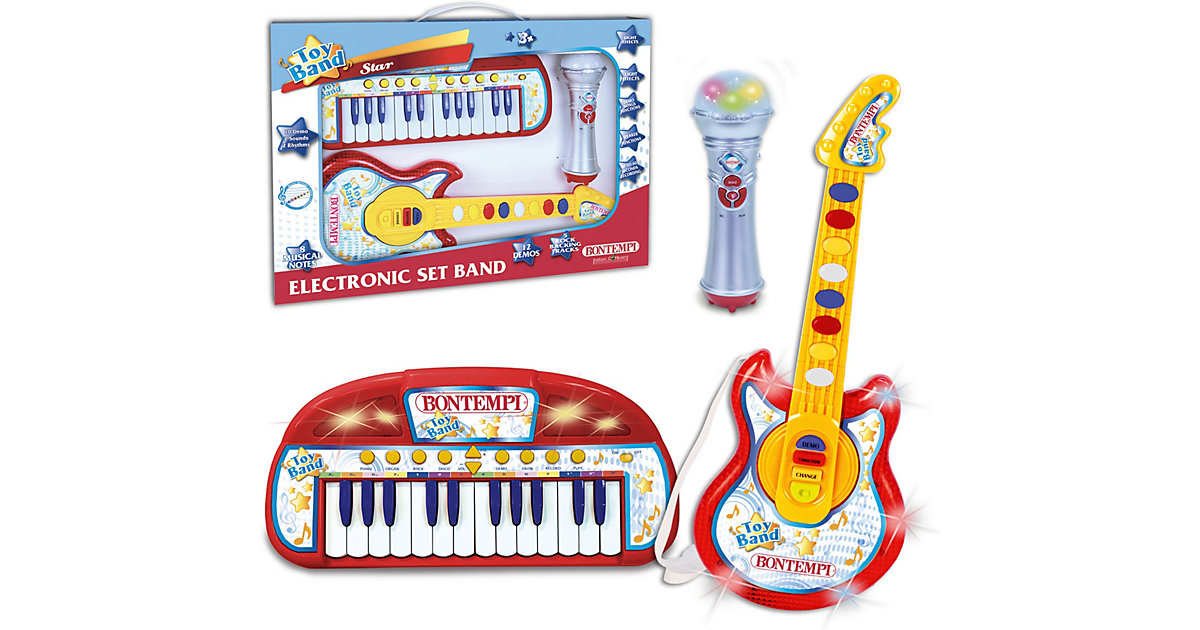 Keyboard, Gitarre + Mikrofon Set