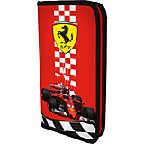 Жесткий пенал Академия Групп Ferrari, на молнии, красный